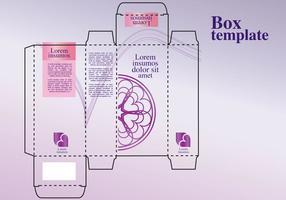 Projeto de caixa de perfume vetor