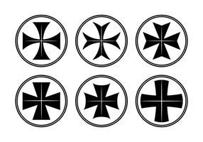 Vetor da cruz de malte