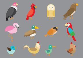 Pássaros de desenho animado