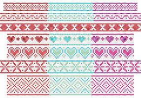Banners cross stitch vetor
