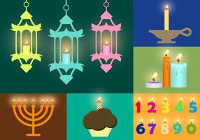 Ilustrações vetoriais de velas vetor