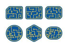 Placa de circuito vetor