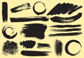 Vetores de traço de tinta