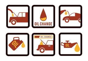 Vetor de mudança de óleo