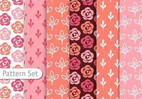 Conjunto de padrões coloridos românticos vetor
