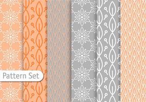 Conjunto de padrão de Pastel Decorativo vetor