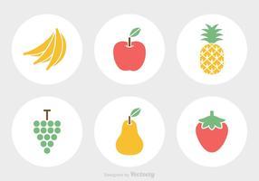 Ícones de vetor de frutas grátis