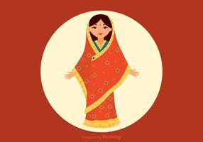 Vetor menina india grátis