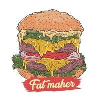 design de fabricante de gordura de hambúrguer