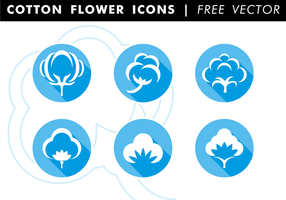 Algodão Flat Icons Free Vector