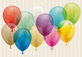 Balões transparentes vetor