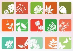 Conjunto de ícones da natureza vetor