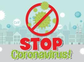 pare o coronavirus pôster vetor