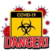 poster para covid-19 vetor