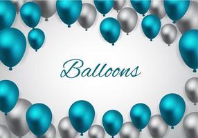 Vetor de balões azuis grátis