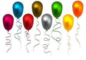 Vetor de balões coloridos grátis