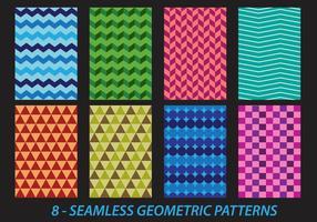 Padrões geométricos sem costura vetor