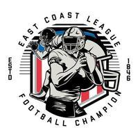 emblema do círculo para o campeão de futebol americano