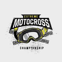 emblema de óculos de proteção de motocross extremo vetor