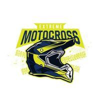emblema de capacete de motocross extremo vetor