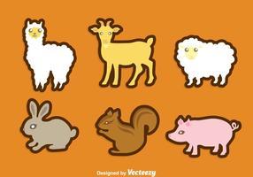Conjunto de ícones de animais vetor