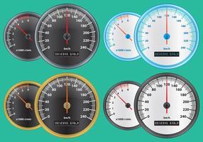 Tacômetros coloridos vetor