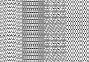 Padrão geométrico preto e branco livre vetor