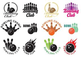 Logos de boliche vetor