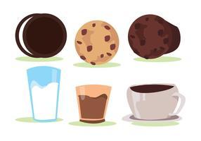 Conjunto de vetores de cookies