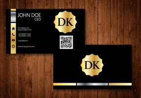 Cartão de visita dourado vetor