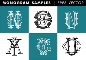 Amostras de monograma Vector grátis