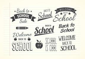 Cool Back to School Label Set vetor