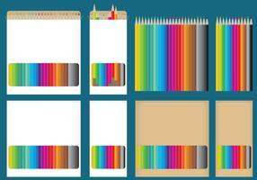 Caixas de lápis de cor vetor