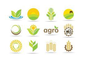 Agro logos vetor