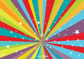 Fundo de explosão colorido com estrelas vetor