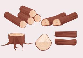 Vetores de troncos de madeira