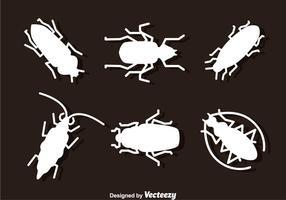 Silhueta de inseto vetor