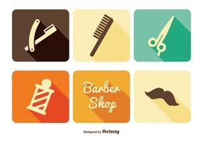 Conjunto de ícones de barbeiro vetor