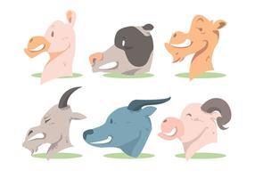 Conjunto de vetores de cabeça de animal