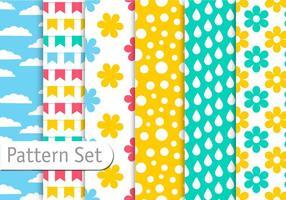 Conjunto de padrões coloridos da primavera vetor