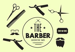 Coleção de vetores de ferramentas de barbeiro