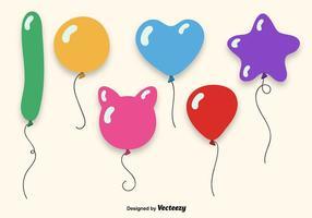 Conjunto de balões coloridos vetor