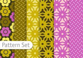 Conjunto de padrões geométricos florais