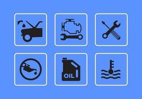 Ícones do vetor da interface do carro