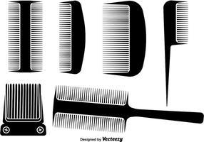 Projetos de penteleira e corte de cabelo vetor