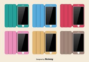 Conjunto de capas de telefone colorido