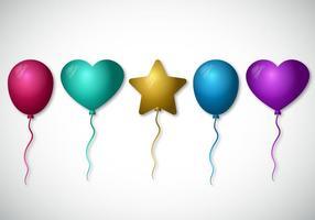 Conjunto de vetores de balão coloridos