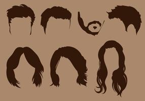 Conjunto de vetores de silhueta coiffure