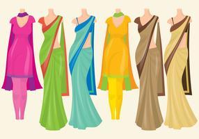 Vestidos indianos vetor