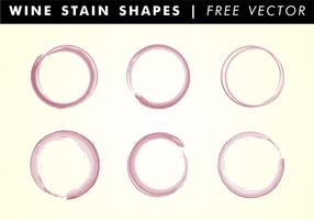 Vinho Stain Shapes Free Vector